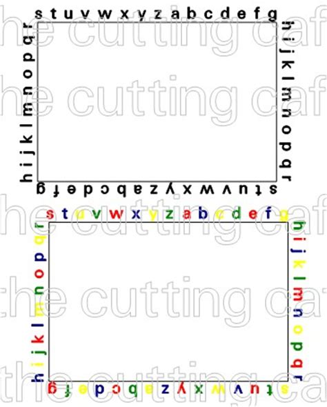printable alphabet letters to frame the cutting cafe letters photo frames printable stamps