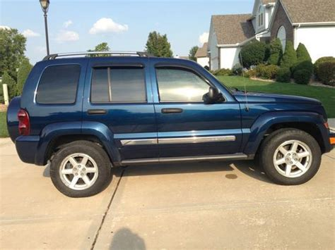 jeep liberty navy blue purchase used 2005 jeep liberty limited sport utility 4
