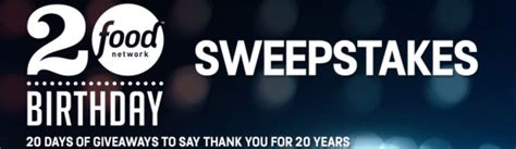 Food Network Sweepstakes - food network s 20th birthday sweepstakes iwg win a trip to miami for the south