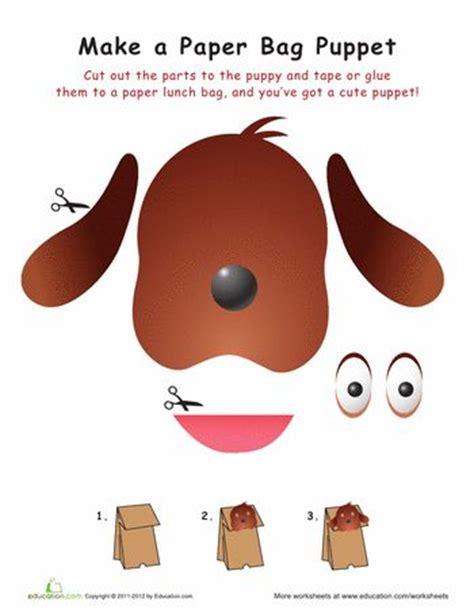 dog puppet pattern paper bag 17 best images about paper bag puppets on pinterest