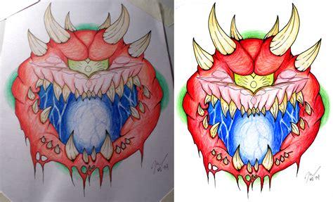 doom tattoo cacodemon doom flash by magnumimago on deviantart