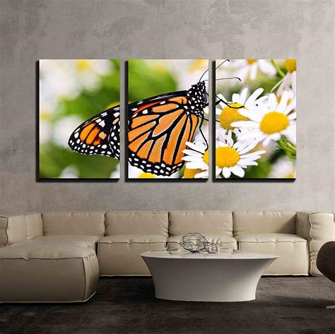 wall  piece canvas wall art colorful monarch