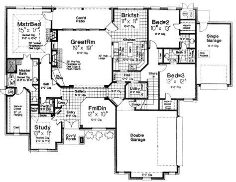 hidden room floor plans plan 48308fm secret room in the study secret rooms