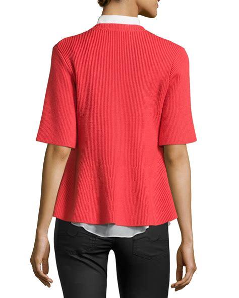 2 In 1 Peplum 10 crosby derek lam 2 in 1 sleeve sweater and peplum