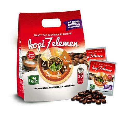 Kopi Herbal 7 Elemen Kotak 10 Sachet Hpai 1 kopi 7 tujuh elemen hpai jual obat herbal hpai