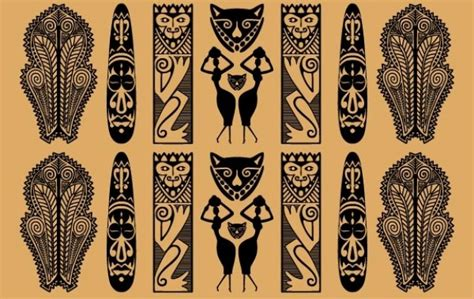 traditional african pattern vector free download