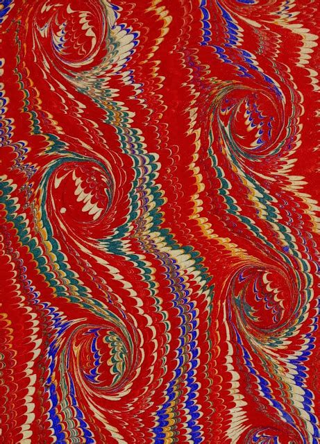 Where Was Paper Marbling Invented - paisley patterns endpapers from ancient manuscripts