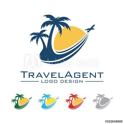 Kaos Traveler World Traveler 8 travel and tour logo plane palm sun trajectory design