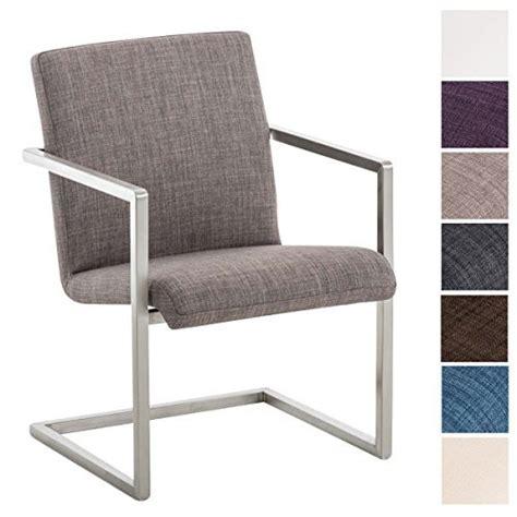 esszimmerstühle mit armlehne stoff clp edelstahl design freischwinger stuhl java stoff bezug