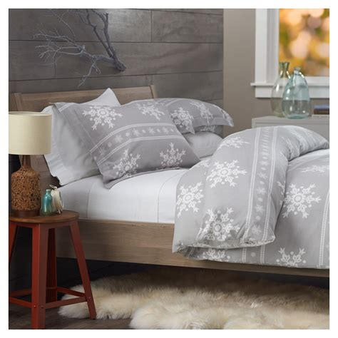 Snowflake Comforter by Pinzon Lightweight Cotton Flannel Duvet Cover