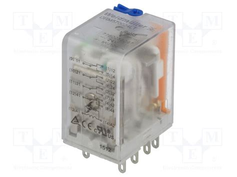 Relay Weidmuller 7760056097 weidmuller relay electromagnetic tme