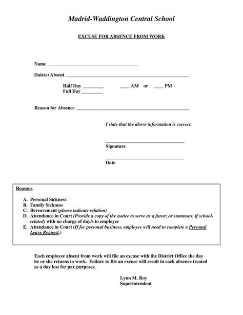 doctors note template for work doctors excuse for work template excuse for absence from