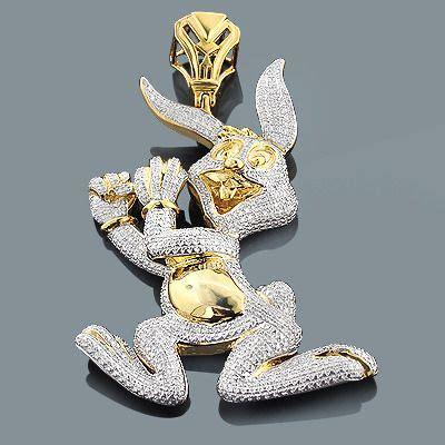 real custom jewelry bugs bunny pendant 2 48ct