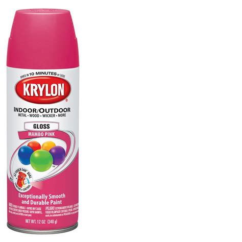 shop krylon 12 oz mambo pink gloss spray paint at lowes