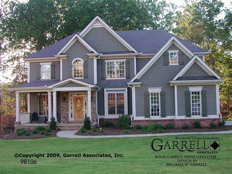 house plans craftsman style garrell associates inc astoria house plan 98106