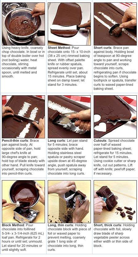 chocolate garnish finales how to make choco chocolate and curls