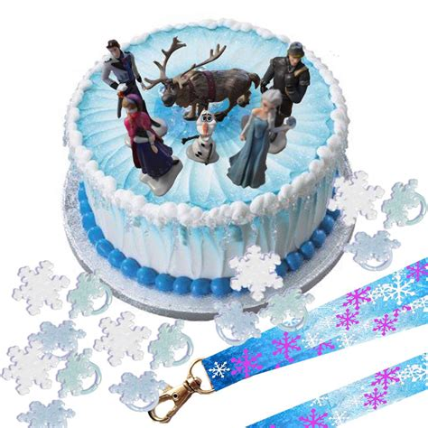 disney frozen cake topper set cupcake rings party lanyard ebay