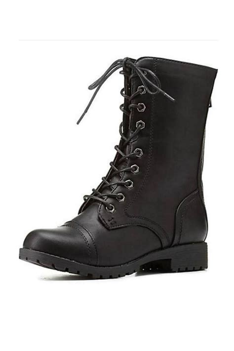 boots black bamboo black combat boots from atlanta by couture