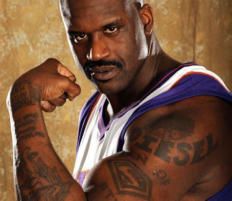 shaquille o neal tattoos shaq shaquille o neal basketball winner of 4 nba