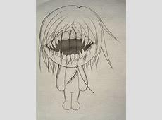 Drawn doll creepy - Pencil and in color drawn doll creepy Rag Doll Drawing