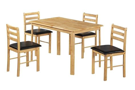 Wooden Dining Table And 4 Chairs Homegenies Wood Dining Tables And Chairs