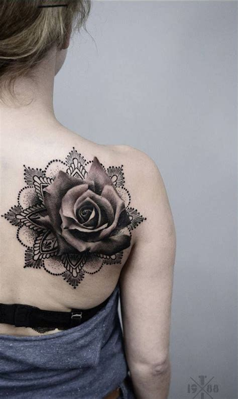 tattoo mandala realistic 40 eye catching rose tattoos black tattoos mandala and