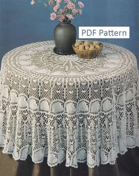 pattern crochet round tablecloth round pineapple tablecloth crochet pattern pdf instant