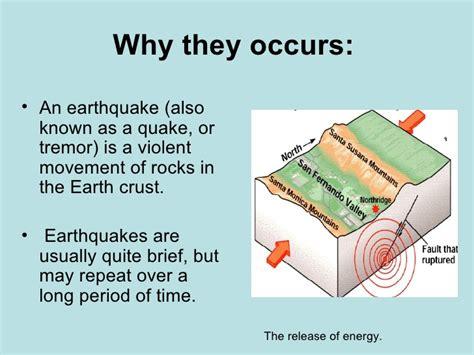 earthquake occur earthquakes