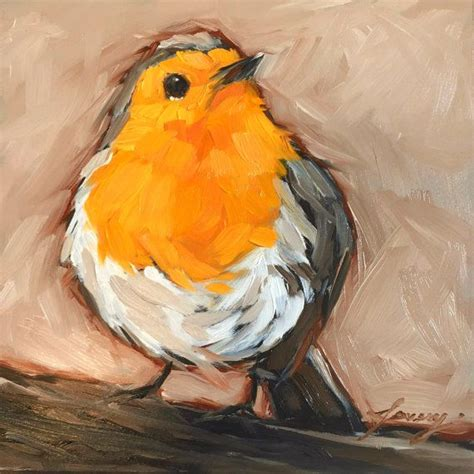 17 best images about painting ducks on pinterest old red breasted robin bird painting 5x5 quot impressionistic oil