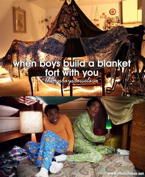 Blanket Fort Meme - when boys build a blanket fort community