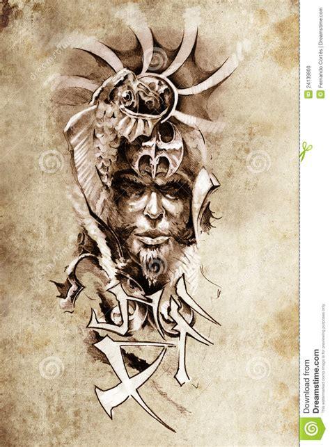 imagenes guerrero japones tat 250 e el arte bosquejo de un guerrero japon 233 s foto de