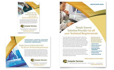 Computer Services Consulting Flyer Ad Template Word Publisher Advertisement Design Templates