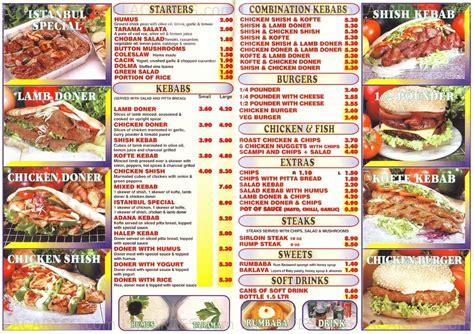 istanbul kebab house 1 of 2 price lists menus istanbul kebab house