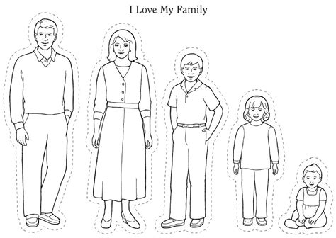 family picture coloring page i love my whole family lds sunbeams pinterest