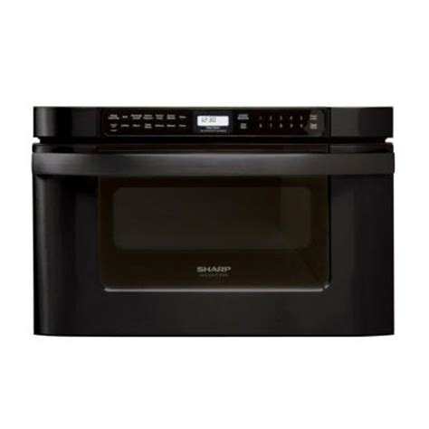 Home Depot Microwave Drawer by Sharp 24 In W 1 2 Cu Ft Built In Microwave Drawer In Black With Sensor Cooking Kb6524pk The