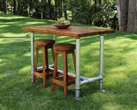 industrial farmhouse table kitchen island with 2 matching