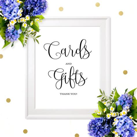 Wedding Gift Table Sign by Cards And Gifts Sign Diy Printable Wedding Sign Chic