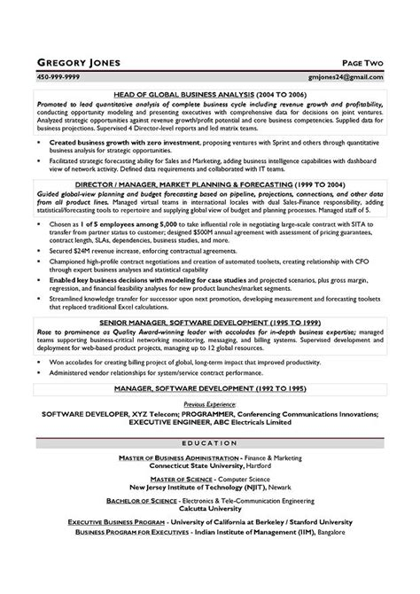 cfo resume sles resume builder houston resume template