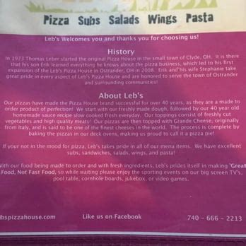 pizza house clyde leb s pizza house pizza 17 s main st ostrander oh united states restaurant