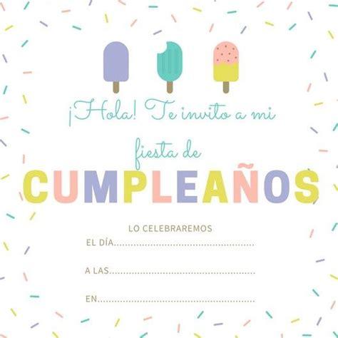 imagenes de invitaciones de cumpleaños bonitas las 25 mejores ideas sobre invitaciones de cumplea 241 os