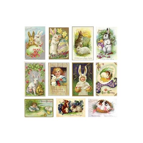 5 best images of free printable vintage easter cards