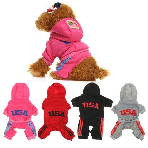 puppy clothes pet puppy clothes winter warm jacket coat clothes apparel clothes hoodie