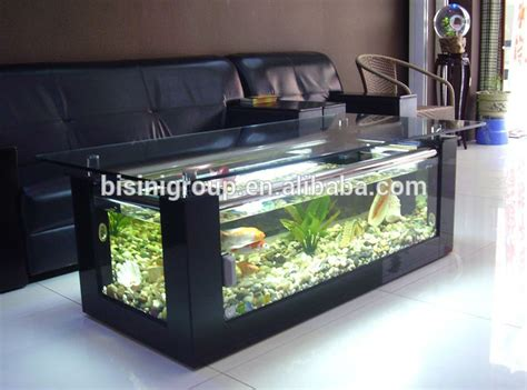modern style acrylic rectagle coffee table aquarium fish