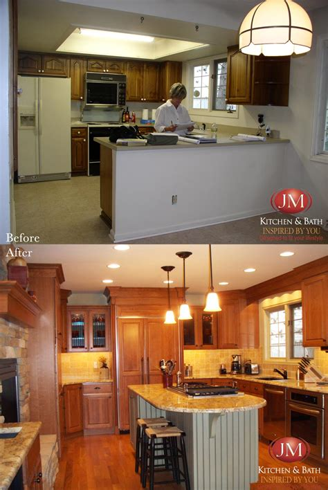 before and after kitchen remodel denver co by jm
