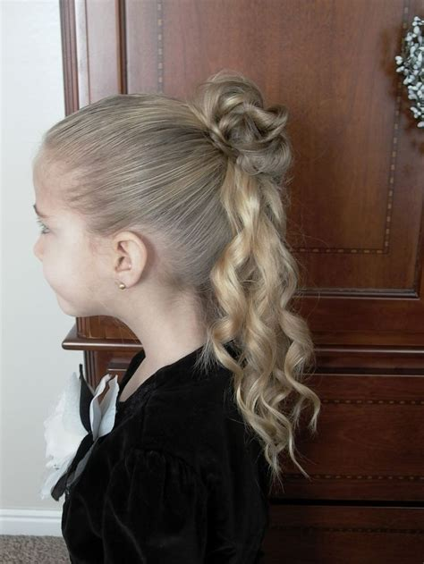 half updo bun hairstyles little girl updos tutorial videos how to do little