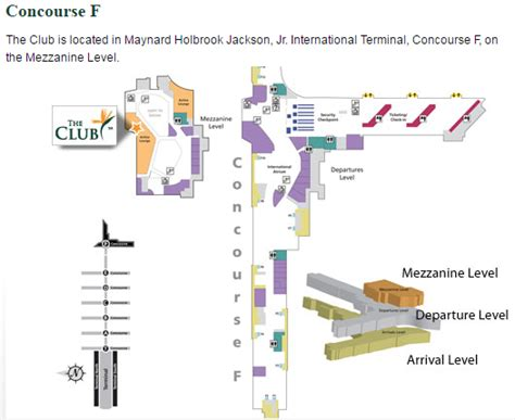 atlanta airport map us airways lounge review the club at atl travelupdate