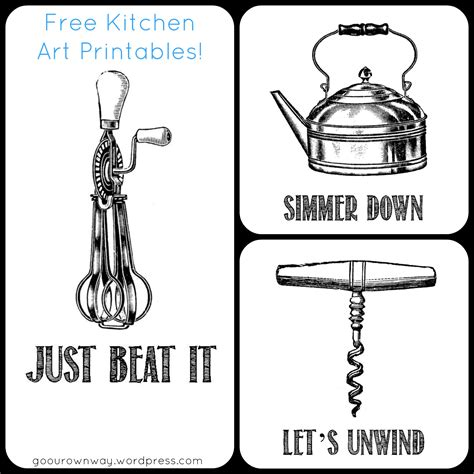 Free Kitchen Printables by Kitchen Free Printables Go Our Own Way