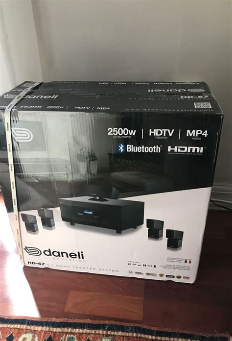 daneli acoustic  home theater system hd  whdtv