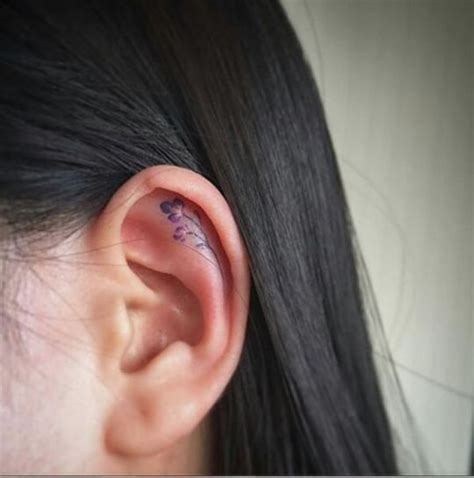 minimalist tattoo ear 16 tiny ear tattoos that are perfect for minimalists