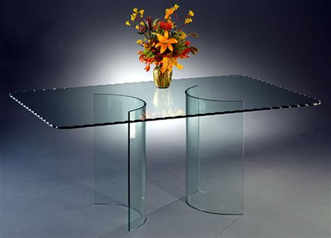 Curved Glass Dining Table Curved Glass Dining Table Bases